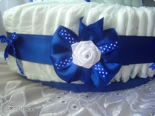 Вот выставляю обещанный тортик для богатыря Илюши. Памперсы в этом тортике выложила по-другому! За эту идею огромное спасибо Викторие Борзовой http://stranamasterov.ru/node/190055?c=favorite фото 3