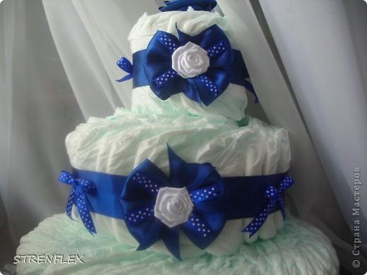 Вот выставляю обещанный тортик для богатыря Илюши. Памперсы в этом тортике выложила по-другому! За эту идею огромное спасибо Викторие Борзовой http://stranamasterov.ru/node/190055?c=favorite фото 4