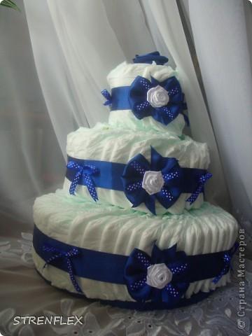 Вот выставляю обещанный тортик для богатыря Илюши. Памперсы в этом тортике выложила по-другому! За эту идею огромное спасибо Викторие Борзовой http://stranamasterov.ru/node/190055?c=favorite фото 6