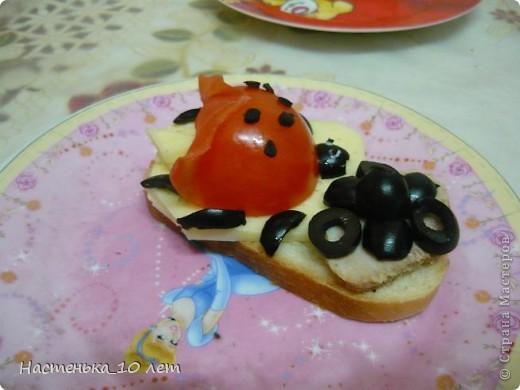 Захотелось нам с братом веселеньких бутербродиков и вот такие Божье Коровки. фото 2