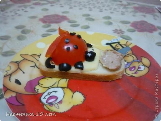 Захотелось нам с братом веселеньких бутербродиков и вот такие Божье Коровки. фото 3