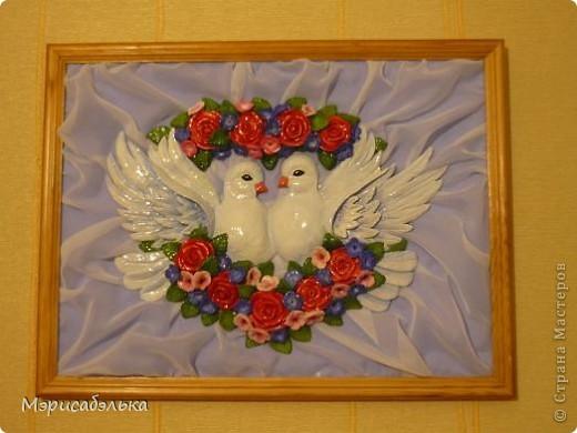 """Всем привет!!!!Вот такие влюбленные голуби у меня получились.Слепила их давно ,вместе с предыдущей работой,все никак не могла раскрасить.И вот наконец руки """"дошли""""(спасибо дождливой погоде))))! фото 7"""