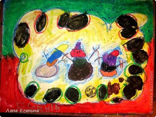 Моя любимая работа дочки пастелью. Автору на то время 4 года. фото 2