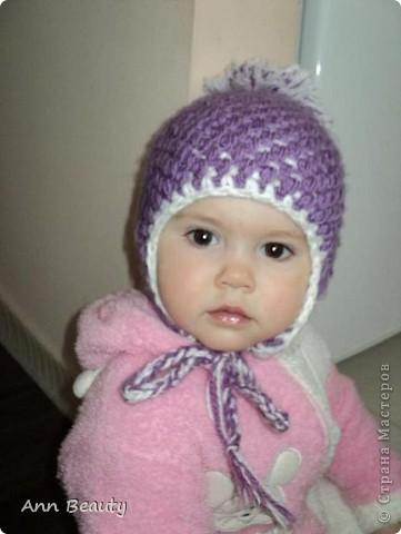 Вот такая вышла шапочка для дочки на зиму фото 1
