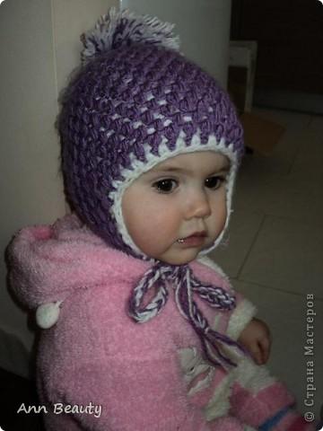 Вот такая вышла шапочка для дочки на зиму фото 2