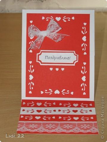 С помощью дырокольчика с сердечками получилась вот такая открыточка. Пока не знаю, кому она предназначается, но мне очень нравиться. фото 1