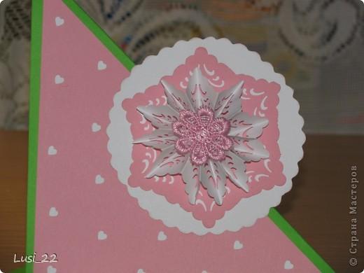Впервые увидела такую открытку. Очень интересная форма и исполнение. А нашла я её у Оли ya-yalo http://stranamasterov.ru/node/172941?c=favorite.  В её блоге много всевозможных открыток такого типа. фото 7