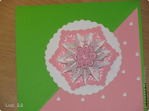Впервые увидела такую открытку. Очень интересная форма и исполнение. А нашла я её у Оли ya-yalo http://stranamasterov.ru/node/172941?c=favorite.  В её блоге много всевозможных открыток такого типа. фото 5