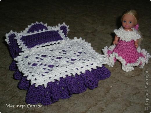 Роскошное ложе украсит любую спальню. Рассчитано на размер куклы 10,5см.