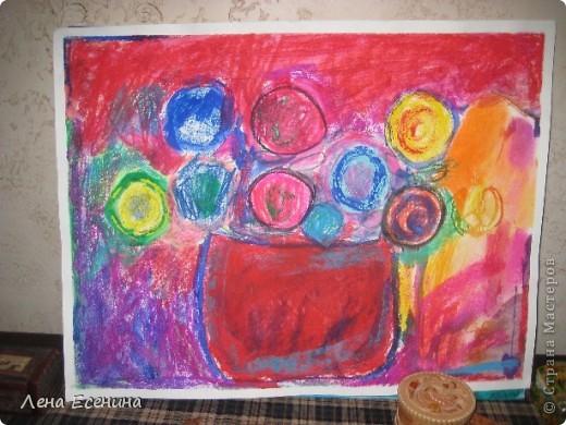 Моя любимая работа дочки пастелью. Автору на то время 4 года. фото 1
