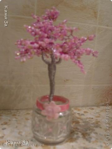 """Моё первое деревце - сакура. Давно хотела сделать, но не знала как. Спасибо """"стране мастеров""""- научили. фото 1"""