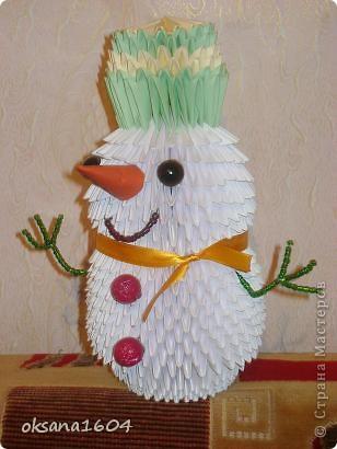 Снеговичок для школьного конкурса...
