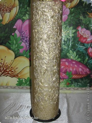 ваза из бросового материала. фото 3