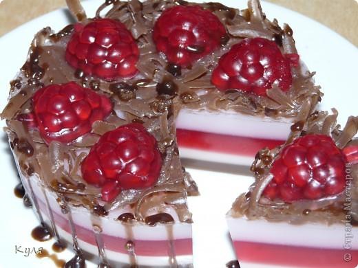 Шоколадно-малиновый тортик фото 1
