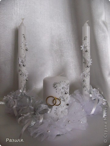 Свечи свадебные...