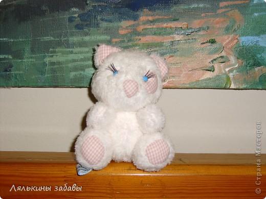 котя Веснушка.маленькая,15 см.нитяное крепление. фото 1