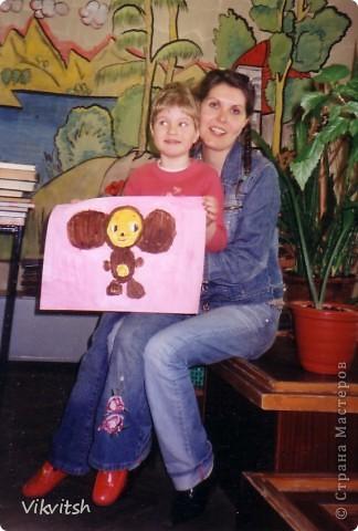 Чебурашка на розовом фоне. фото 1