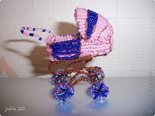 Схемы колясок из бисера