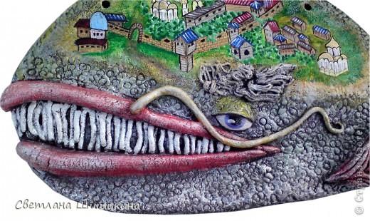 Лепила по рисунку Художника Макса Ларина. В его рисунки невозможно не влюбиться!!! Мой кит, конечно же, с авторским не сравниться... Но что получилось Вам судить... Ширина 35 см., высота 20 см.  фото 3