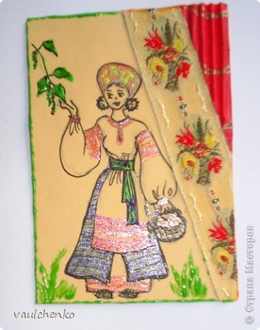 Поэзия русского костюма... Давно где-то прочитала эти строки.  Хочу предложить вашему вниманию всего 4 карточки, одну из которых я специально сделала нашей Анечке (Анаджан)  - помните её аватарочку? Русский народный костюм - очень сложен, многослоен и прекрасен! фото 2