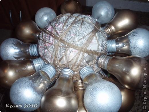 Вот  такой подарок  получился из  обычных  лампочек фото 5