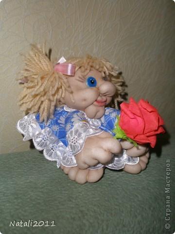 Вот такая девочка с цветочком у меня получилась. фото 3