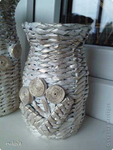 Всем здравствуйте!!! ))) Вот окрасила свои давние плетения,подруга увидела у меня серебрянный велосипед и ей захотелось такой же,только краска у меня была золотая,окрасила в золото... посмотрите что вышло )))  фото 7