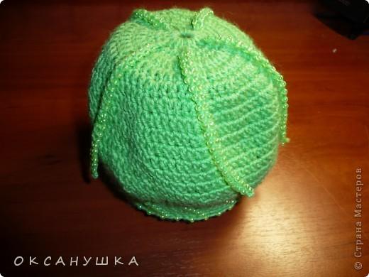 Посмотрев на работы мастериц, проштудировав МК Голубки, решилась... на создание вот такой шапочки.  (Раньше вязала только игрушки) фото 2