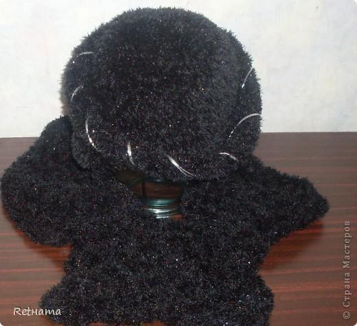 шапочка  из травки + шарфик+штучка(ободок) фото 3