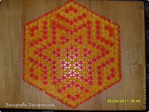Плетение - Салфетки плетеные на рамке.