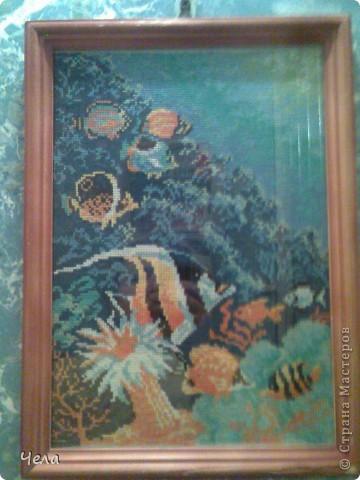 Вышивка Морское дно Нитки