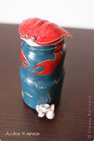 Бутылочка краб. краб привезла из Вьетнама.и ракушки тоже фото 1