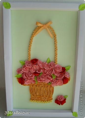 Розы в корзине. Подарок подруге. фото 2