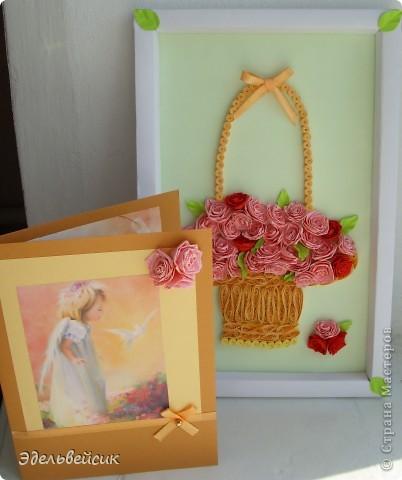 Розы в корзине. Подарок подруге. фото 1