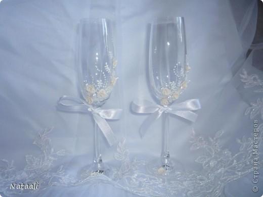 Свадебные бокалы фото 3