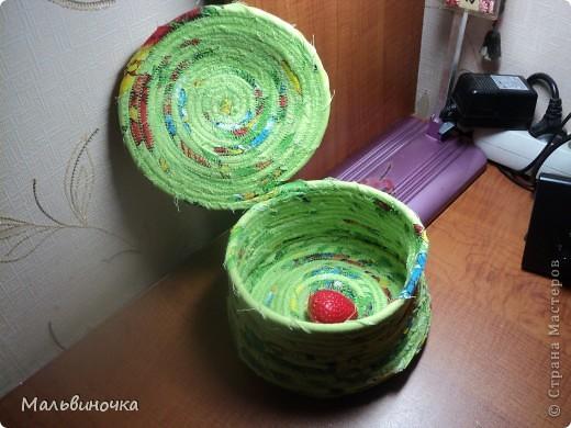 Увидела здесь на сайте такой способ шитья корзинок и не удержалась,тоже попробовала. фото 3