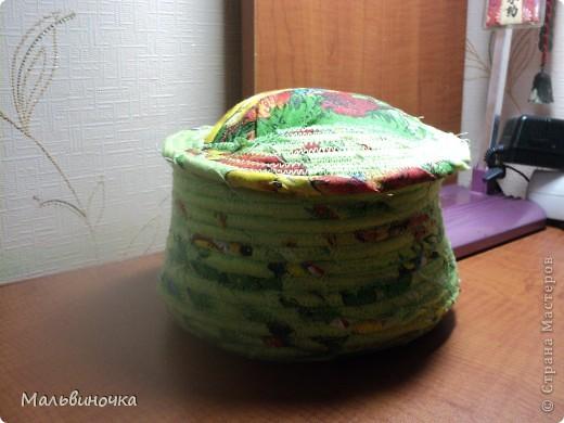 Увидела здесь на сайте такой способ шитья корзинок и не удержалась,тоже попробовала. фото 2