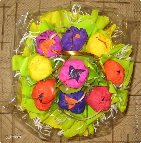 Букеты из конфет в мае. фото 2