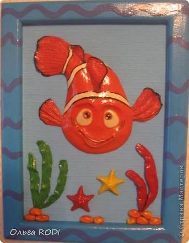 Картины для детской комнаты. Этого ёжика подглядела у Светлячка и К. Ну очень вдохновляют её работы, хочется перелепить всё!!! фото 7
