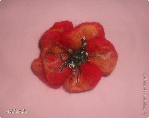 Это мое первое изделие в технике мокрого валяние, сделано на юбилей для моей тети. Осваивала сразу моркое валяние и бусин, и цветов. Подарок очень понравился имениннице. фото 3