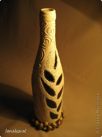 """Все бутылочки сделаны в подарок на 8 марта. Наберитесь терпения, покрутила всеми боками. Это бутылочка """"Орхидея"""". фото 27"""