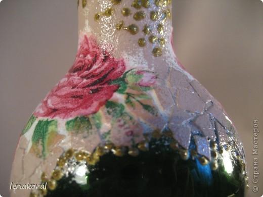 """Все бутылочки сделаны в подарок на 8 марта. Наберитесь терпения, покрутила всеми боками. Это бутылочка """"Орхидея"""". фото 15"""