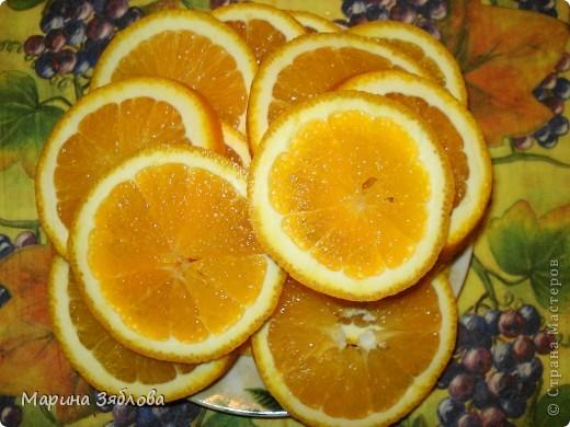Для приготовления этого десерта на нужно : 4-6 апельсинов (в зависимости от размера) 600 гр сахара  300 мл воды  сахарная пудра фото 2