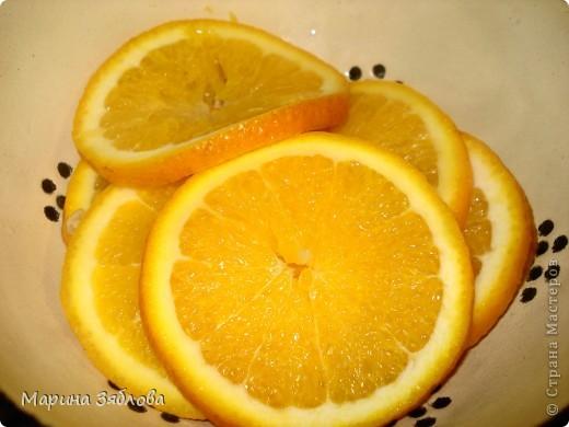 Для приготовления этого десерта на нужно : 4-6 апельсинов (в зависимости от размера) 600 гр сахара  300 мл воды  сахарная пудра фото 3