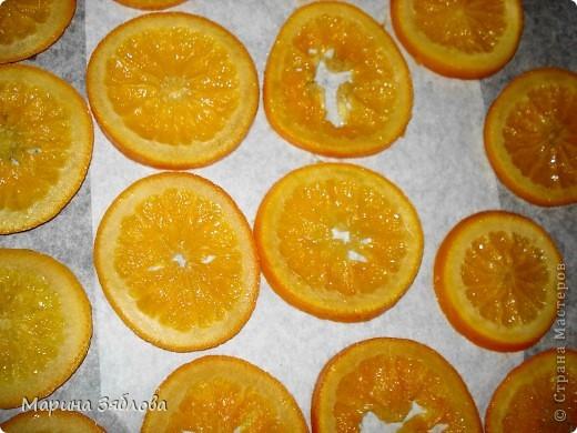 Для приготовления этого десерта на нужно : 4-6 апельсинов (в зависимости от размера) 600 гр сахара  300 мл воды  сахарная пудра фото 4