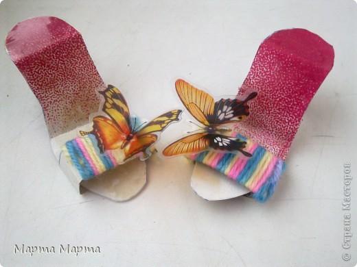 Скоро лето... Хочется чего-то веселого и летнего!Вот сделала такие радужные туфельки. фото 1