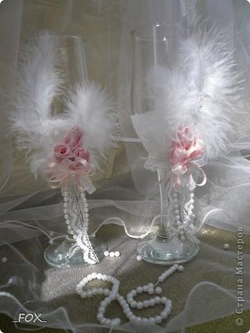 Свадебные бокальчики фото 2