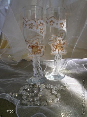 Свадебные бокальчики фото 5