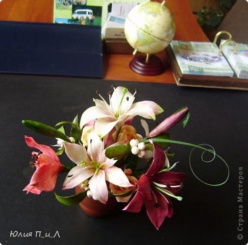 """Я сегодня без МК,но с """"идей""""))) Вот такой букет ждет мою cотрудницу сегодня ко дню рождения. ..Будет ей сюрприз… фото 1"""