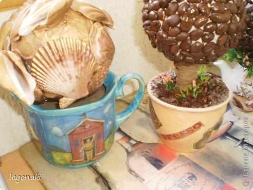 Vot navajala kofejnyh i morskoj tematiki derev'ev. фото 2